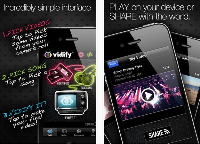تطبيق خلفية صوتية للفيديو Vidify للايفون