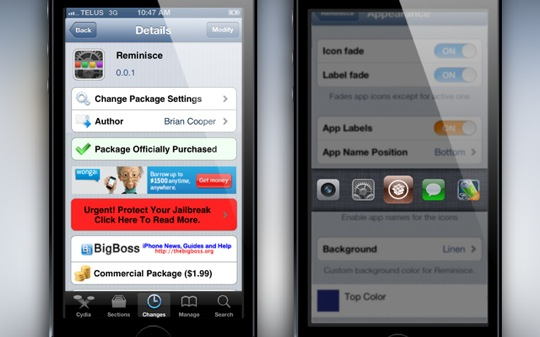 Reminisce-Cydia-Tweak