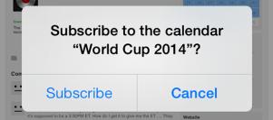 مشاهدة وجدول مباريات كأس العالم على تقويم الايفون