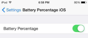 Battery Percentage for iPod
