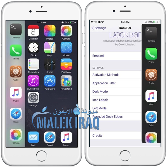 (DockBar for iPhone (iOS 8
