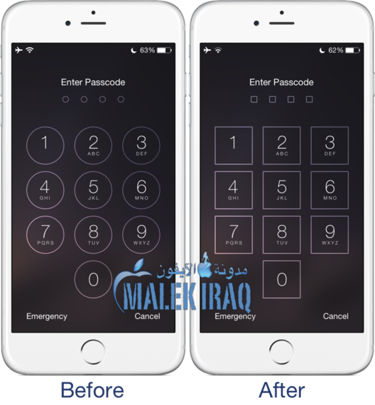 Square Passcode Buttons